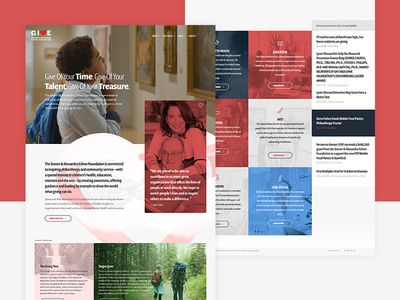 Charity Foundation Design Concept charity navy blue blue pink red web ui ux design