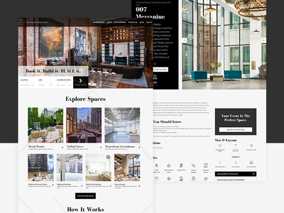 Vacant Spaces Rental Website webdesign website photography icons client accounts web ux design corporate clean black and white
