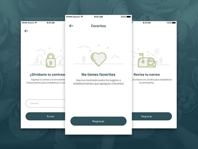 Empty States empty states mobile placeholder vector illustration app ui