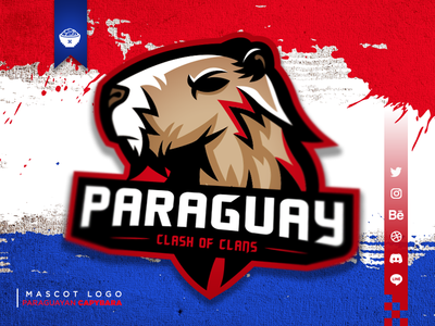Paraguayan Capybara Mascot Logo
