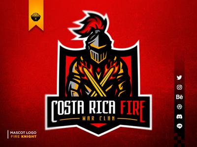 Fire Knight Mascot Logo