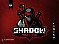 Shadow Warriors Mascot Logo