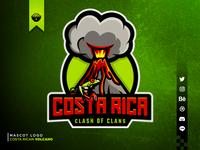 Costa Rican Volcano Mascot Logo