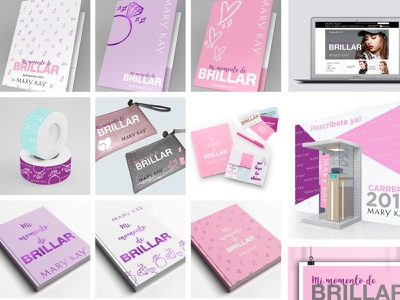 Collaboration with Mary Kay® design branding logo vector foil client event