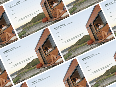 Tiny By Taylor photograhy graphic design tinyhome print pads signup marketing branding design
