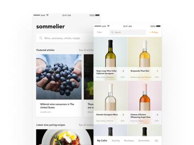 uber of the wine world ux ui warm uber minimal clean sommelier wine ios app