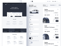 ecommerce: car services wireframe 🚙