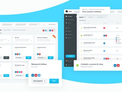 the product automation leads clean ux ui friendly blue dashboard