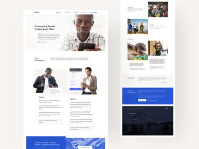 atlas landing tonik web page modern fintech banking minimal landing webdesign lp