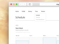 Employee Self-Service Web Portal – Schedule Page