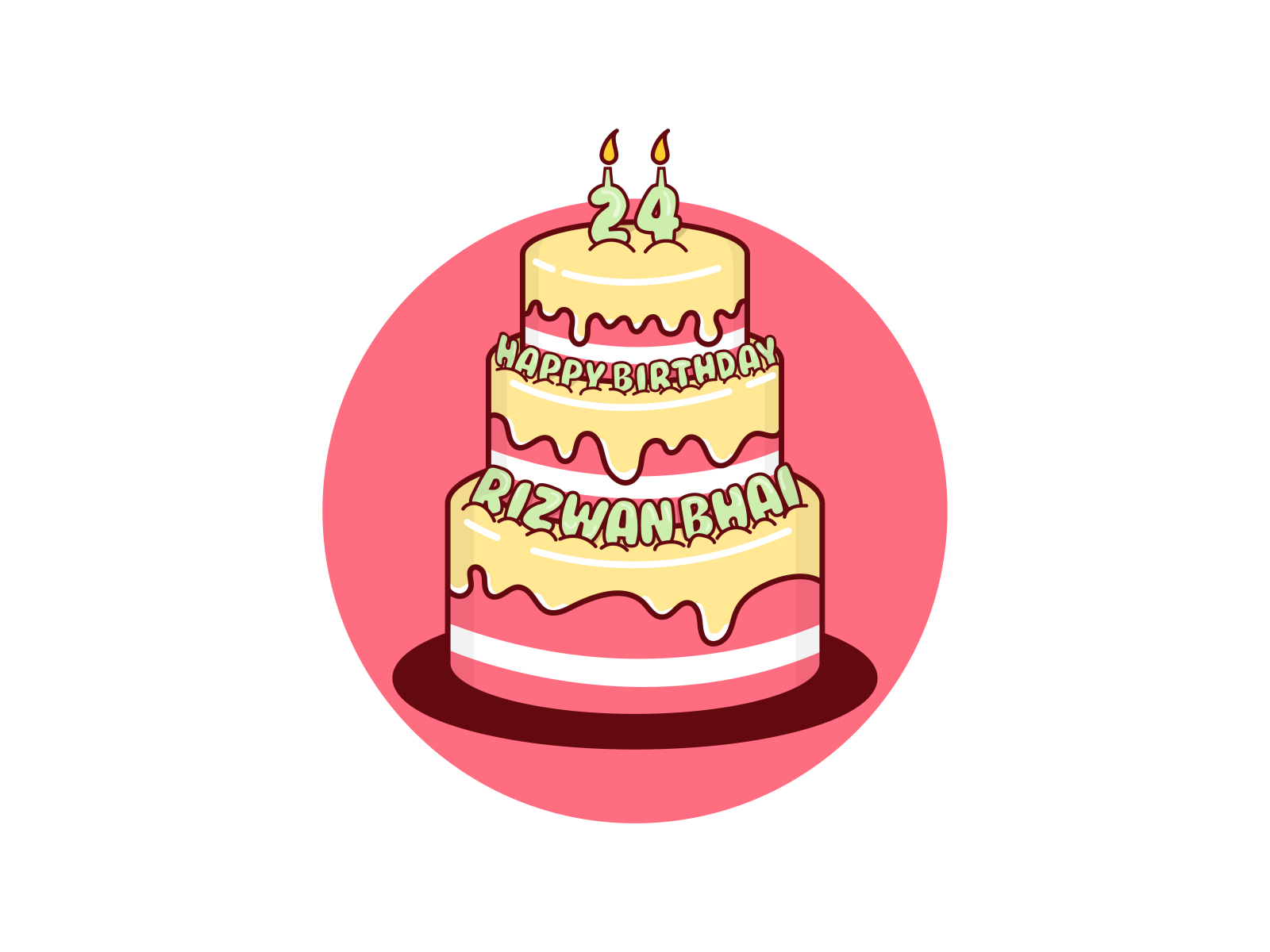 Astonishing Birthday Cake Vector By Abdul Rahman On Dribbble Birthday Cards Printable Trancafe Filternl