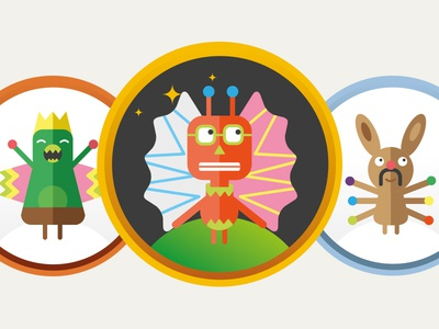 Ucando-it Ranking Badges character design illustration gamification badges