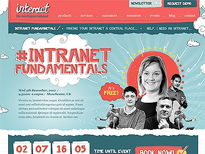 Interact Initial Concept intranet responsive web design illustration brand