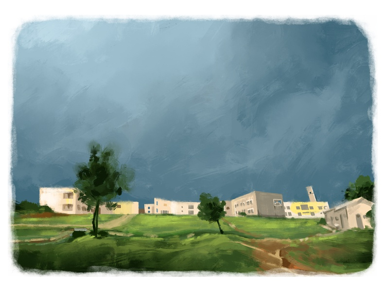 DJAD landscape illustration sketching illustraion digitalart