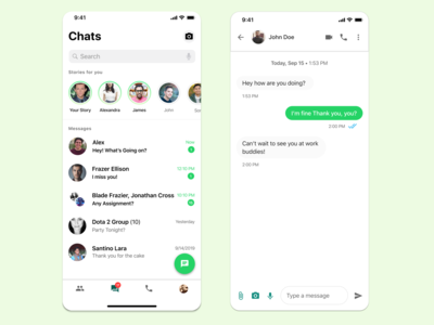 Whatsapp Redesign Concept Part I