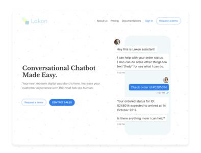 Lakon Chatbot Landing Page
