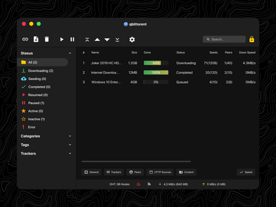 Torrent Client Designs Themes Templates And Downloadable Graphic Elements On Dribbble