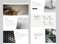 Sweave Bedding Company Landing Page Concept [Part I]
