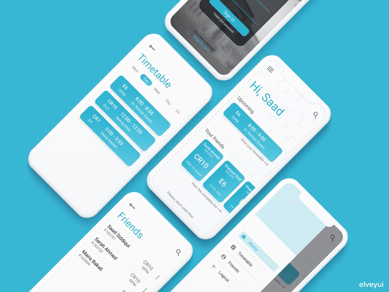UI Design - Timetable Notifier