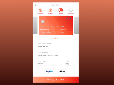 DailyUI Credit Card Payment 002 card number paypal apple pay pay visa daily ui 002 dailyui002 dailyui credit card payment
