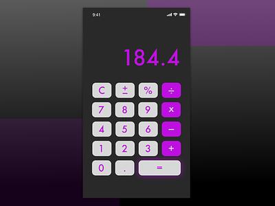 DailyUI Day 004 Calculator gradient black purple calculator app mobile calculator mobile design uidesign ux ui calculatorui 004 dailyui004 dailyui calculator