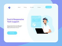 Landing page for Startup