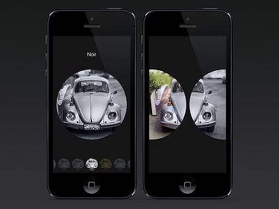 gesture-based photo filter idea (animation) gesture slide filter camera app