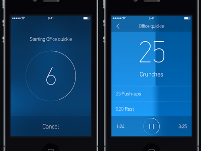 Fitness Timer app ios7 timer time exercise workout watch crunches