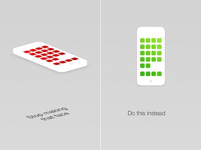 How to: Share app designs on dribbble design iphone mockup isometric ios app application presentation apple