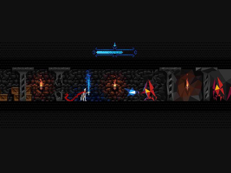 game concept art game pixel vector art dungeon sword polygon