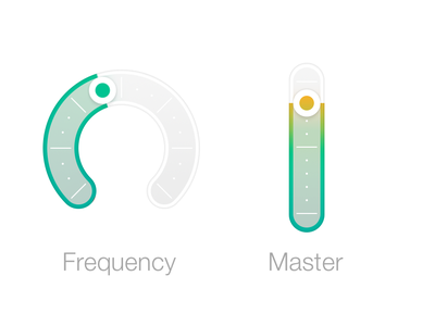 fluffy sliders slider blur ios7 audio knob gradient