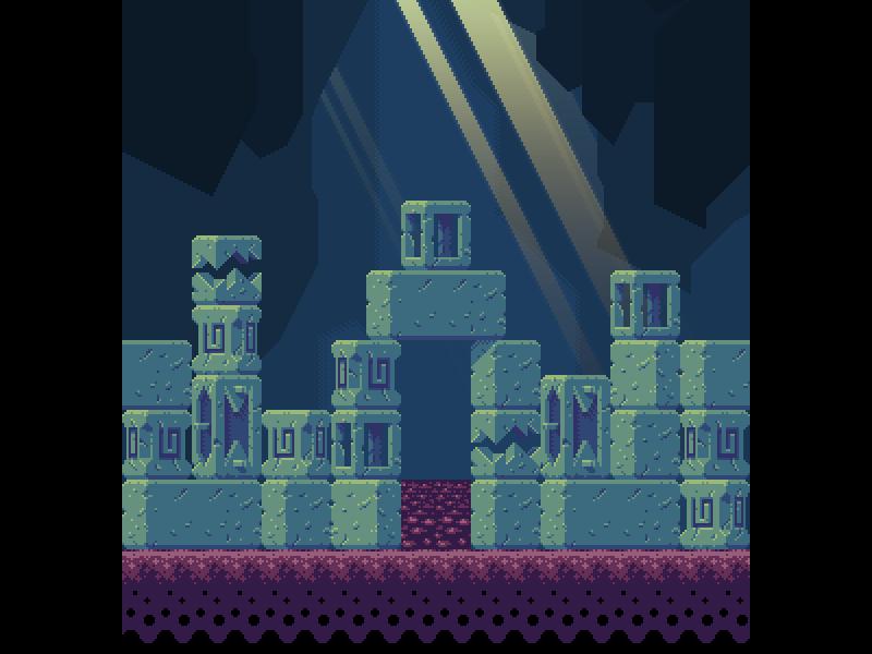 pixel art pixel game 2d sprite platformer tiles light cave palette