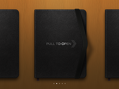 moleskine pull to open concept by Anton Kudin