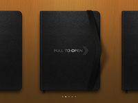 moleskine pull to open concept