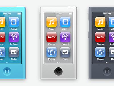 re-renanoed nano ipod apple icons aluminium renanoed