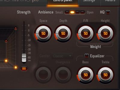 audio processing plug-in UI ui audio dial slider