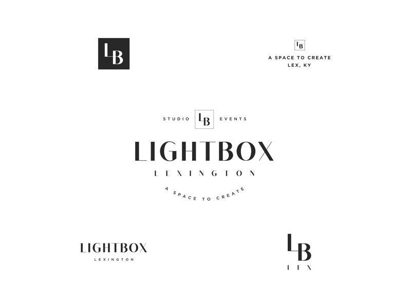 Lightbox identity design clean gotham lb logo branding simple black and white miniaml