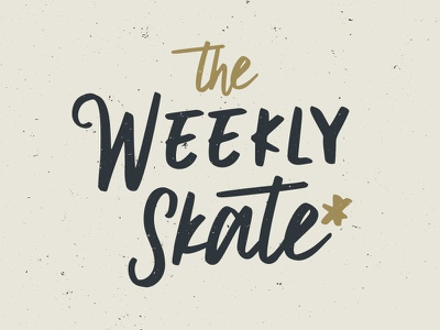 The Weekly Skate neutral texture script logo longboard skateboard skate