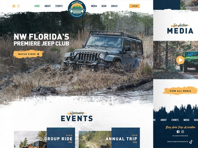 BAJA car homepage web design truck ui 4x4 texture website off-road outdoors jeep