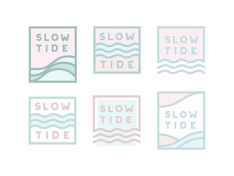 Wave Mark Exploration outline line art monospace flow water ocean branding logo beach pastel wave