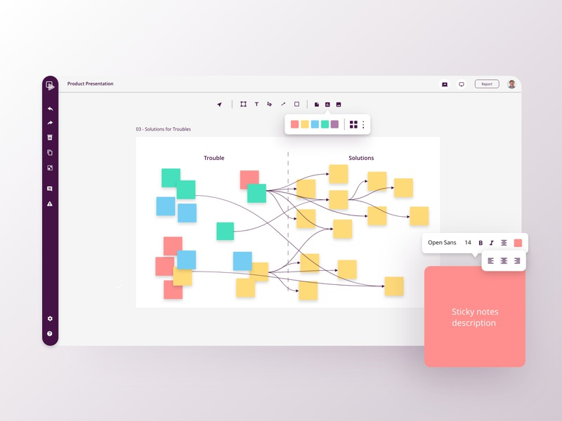 Real-time collaborative whiteboard text editing tasks agenda notes board mind maps gojs presentation design collaboration real-time ux ui web whiteboard