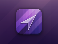 Purple iPhone App Icon