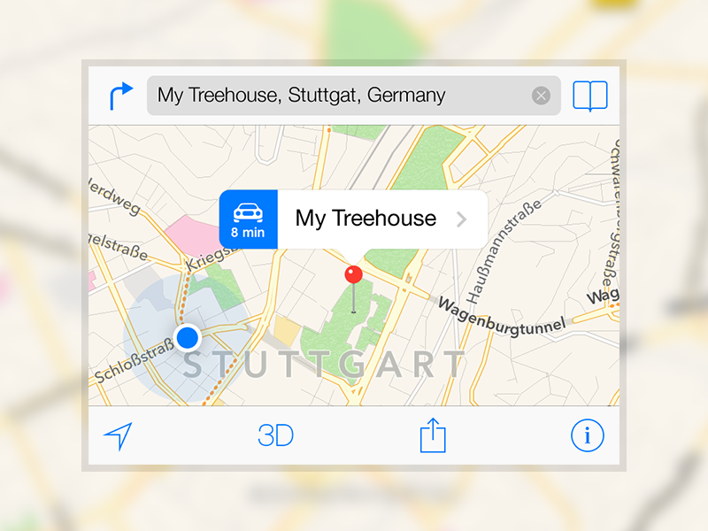 iOS 7 Maps Template [PSD] by Daniel Adams on Dribbble
