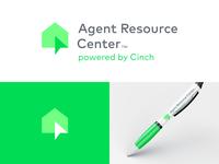 Agent Resource Center Logo digital house branding smart home home services realtor logo real estate