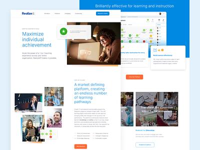 Realizeit Landing Page landing page design web design website landing page homepage