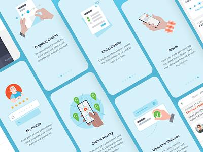 Westhill App Spot Illustrations insurtech insurance application app illustration ui