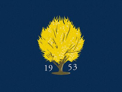 Maidenhair Tree golf logo tree