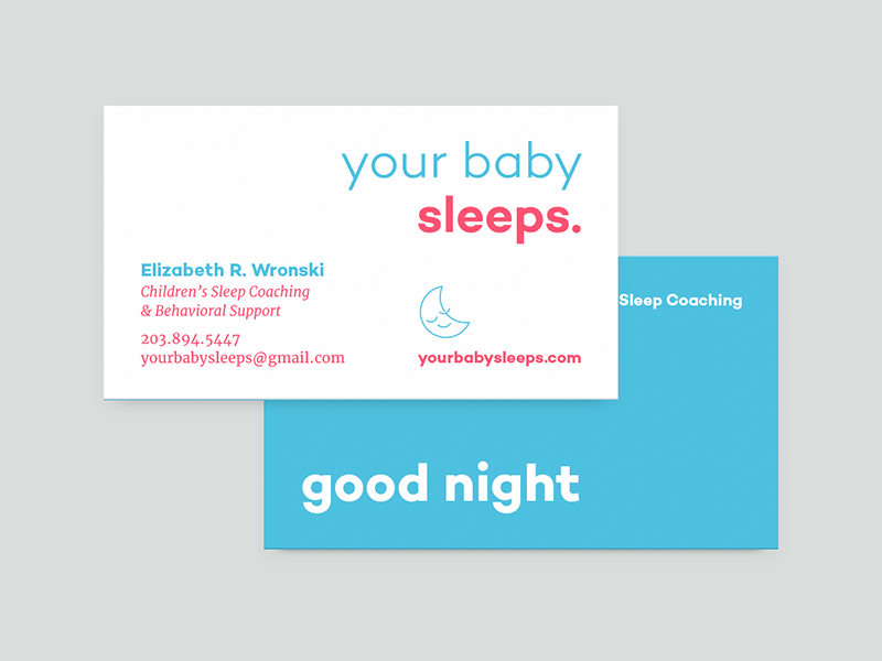 YBS Business Card Concept exploration colors icons your baby sleeps business cards sleep baby
