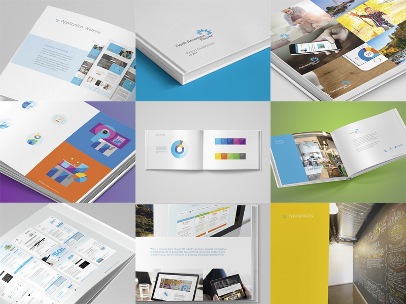 Brand book montage