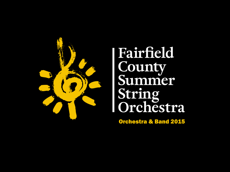 Summer Orchestra Identity ct fairfield treble clef logo symphony youth kids summer orchestra
